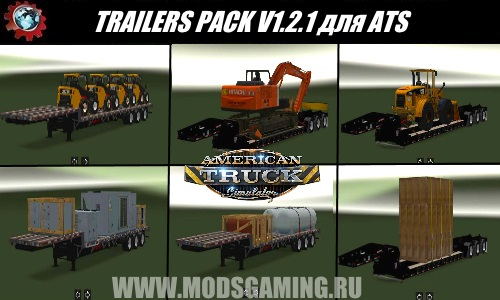 American Truck Simulator download mod pack semi-ATS TRAILERS PACK V1.2.