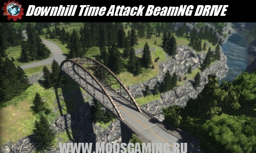 BeamNG DRIVE download mod map Downhill Time Attack