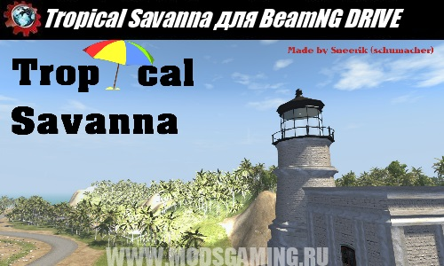 BeamNG DRIVE download map mod Tropical Savanna