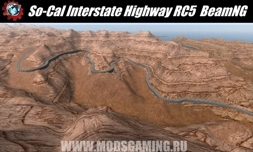 BeamNG.drive download map mod So-Cal Interstate Highway RC5 (115+ miles)