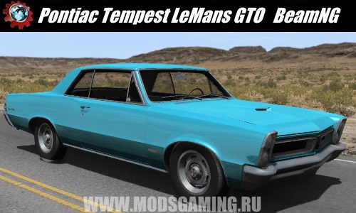 BeamNG Drive download mod car Pontiac Tempest LeMans GTO 1965