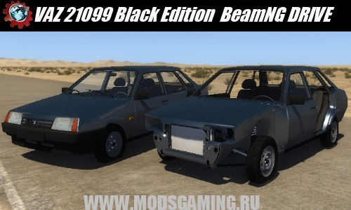 BeamNG DRIVE download mod Russian car VAZ 21099 Black Edition