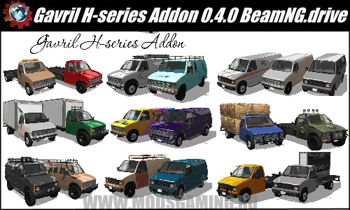 BeamNG.drive download mod Pak Gavril H-series Addon v 0.4.0