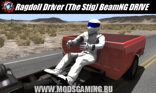 BeamNG DRIVE mod download Ragdoll Driver (The Stig)