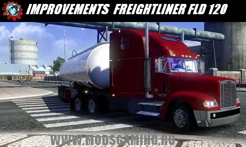 Euro Truck Simulator 2 скачать мод грузовик IMPROVEMENTS FOR THE FREIGHTLINER FLD 120