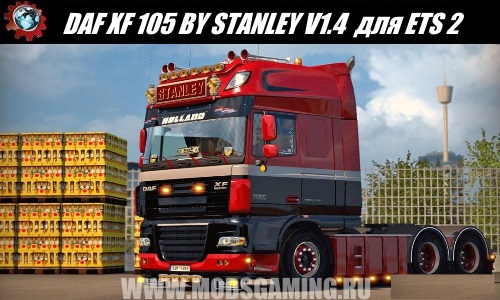 Euro Truck Simulator 2 download mod truck DAF XF 105 BY STANLEY V1.4 UPDATE + SKINS
