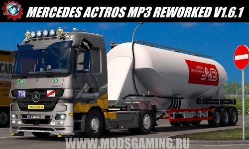 Euro Truck Simulator 2 download mod truck MERCEDES ACTROS MP3 REWORKED V1.6.1