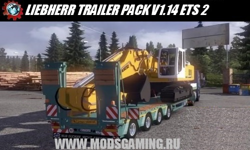 Euro Truck Simulator 2 download mod semi LIEBHERR TRAILER PACK V1.14