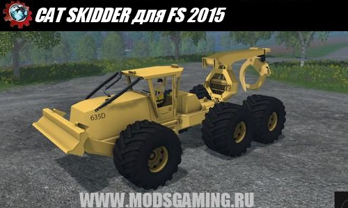 Farming Simulator 2015 download mod tractor CAT SKIDDER