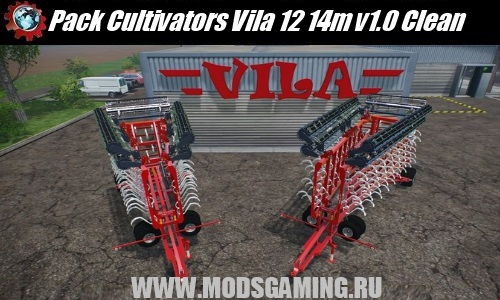 Farming Simulator 2015 download mod cultivator Pack Cultivators Vila 12 14m v1.0 Clean