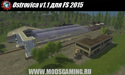Farming Simulator 2015 download mod map Ostrovica v1.1