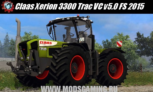 Farming Simulator 2015 download mod tractor Claas Xerion 3300 Trac VC v5.0
