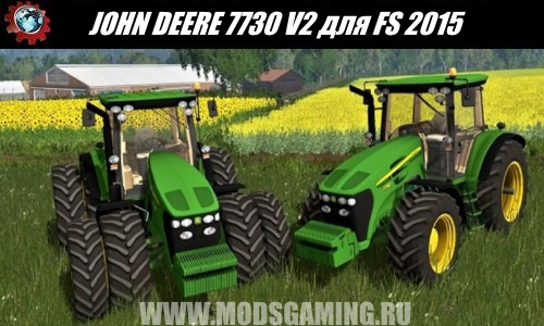 Farming Simulator 2015 download mod tractor JOHN DEERE 7730 V2