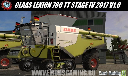 Farming Simulator 2017 download mod Harvester CLAAS LEXION 780 TT STAGE IV 2017 V1.0