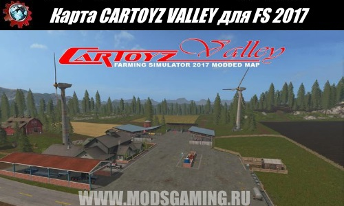 Farming Simulator 2017 download map mod CARTOYZ VALLEY