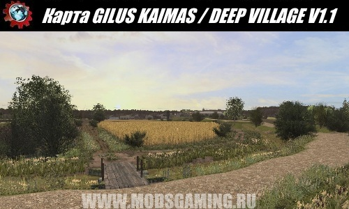 Farming Simulator 2017 download map mod GILUS KAIMAS / DEEP VILLAGE V1.1