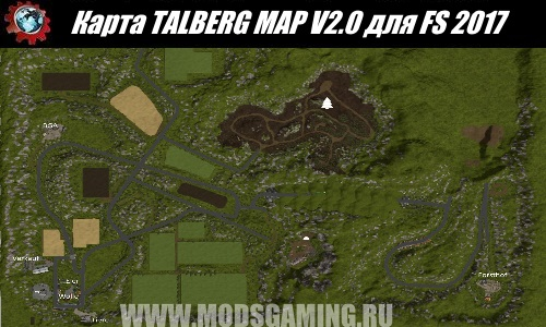 Farming Simulator 2017 download map mod TALBERG MAP V2.0