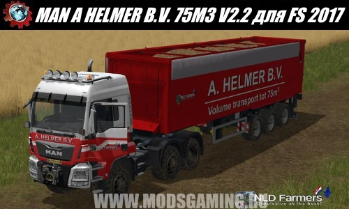 Farming Simulator 2017 download mod Truck MAN A HELMER B.V. 75M3 V2.2