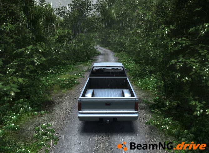 BeamNG DRIVE Wet ground test