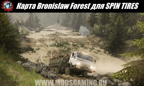 SPIN TIRES download map mod Bronislaw Forest