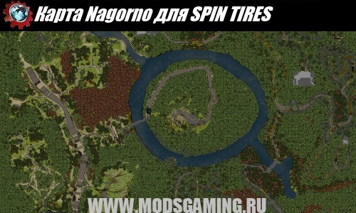 SPIN TIRES download map mod Nagorno