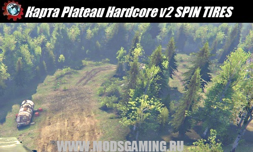 SPIN TIRES download mod map Plateau Hardcore v2