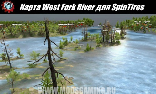 Spin Tires download Fashion Map West Fork River