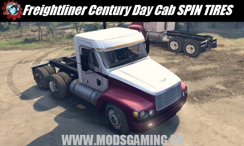 SPIN TIRES download mod tractor Freightliner Century Day Cab
