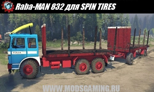 SPIN TIRES download mod truck Raba-MAN 832