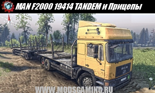SPIN TIRES 2014 download mod car MAN F2000 19414 TANDEM and Trailers v1.0