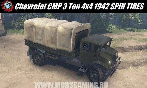 SPIN TIRES download mod truck Chevrolet CMP 3 Ton 4x4 1942 for 03/03/16