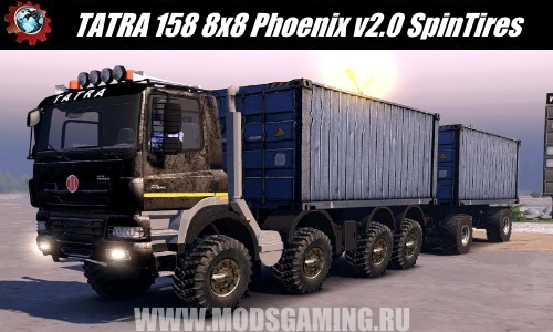 Spin Tires download mod truck TATRA 158 8x8 Phoenix v2.0