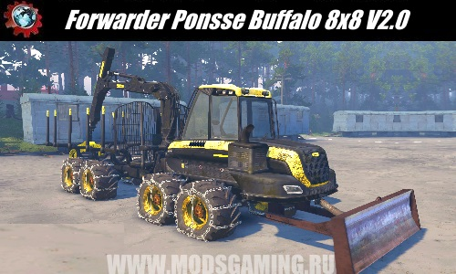 SPIN TIRES download mod tractor Forwarder Ponsse Buffalo 8x8 V2.0