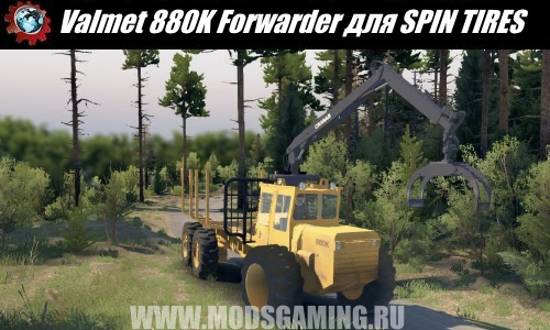 SPIN TIRES download mod Valmet 880K Forwarder handlers 03/03/16