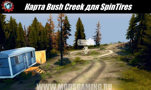 SpinTires download map mod Bush Creek