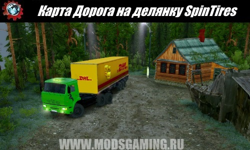 SpinTires download mod Road Map per plot