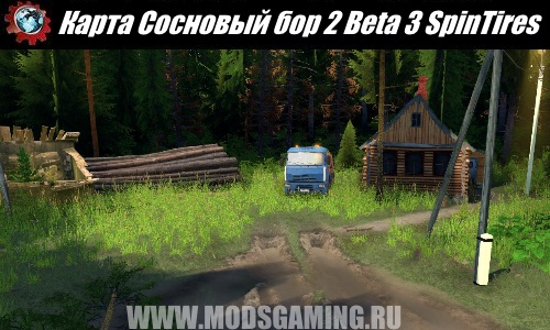 SpinTires download mod map Pine Forest 2 Beta 3