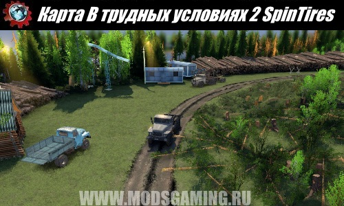 SpinTires download map mod in difficult conditions 2