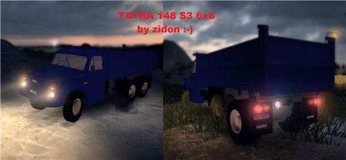 Мод TATRA 148 S3 6x6 для Spin Tires Level Up 2011 Скачать