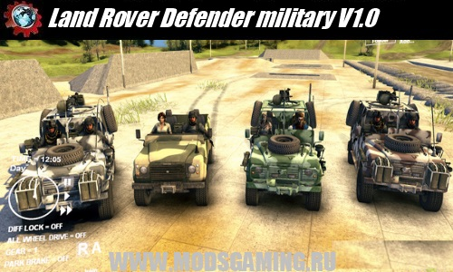 Spin Tires v1.5 скачать мод Land Rover Def​ender military V1.0​
