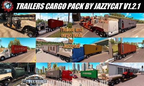 American Truck Simulator download mod PAK trailers TRAILERS AND CARGO PACK BY JAZZYCAT V1.2.