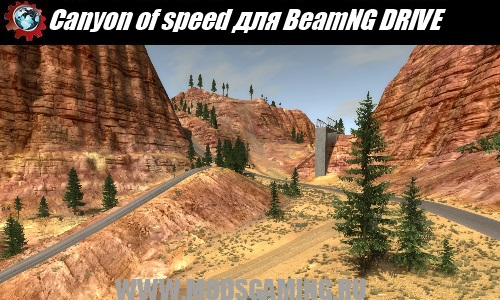 BeamNG DRIVE download mod map Canyon of speed