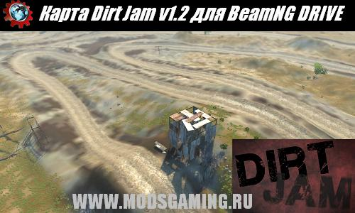BeamNG DRIVE скачать мод карта Dirt Jam v1.2(Motocross Style Racing Track)