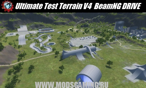 BeamNG DRIVE download mod map Ultimate Test Terrain V4