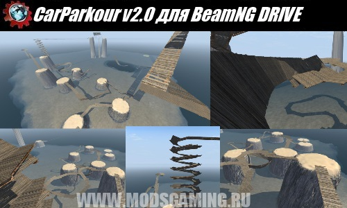 BeamNG DRIVE download map mod CarParkour v2.0