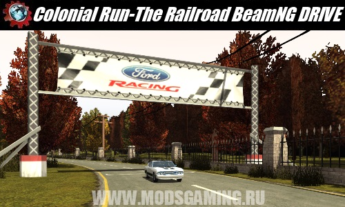BeamNG DRIVE download map mod Colonial Run - The Railroad