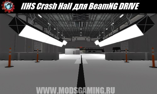 BeamNG DRIVE download map mod IIHS Crash Hall