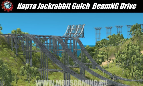 BeamNG Drive map download modes Jackrabbit Gulch - The Vehicular Stunt Island