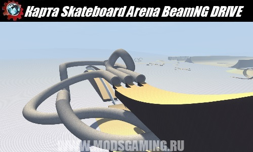 BeamNG DRIVE download map mod Skateboard Arena