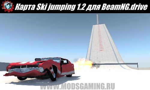 BeamNG.drive download mod map Ski jumping 1.2